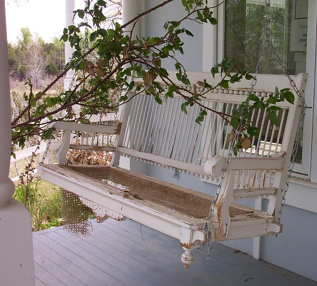 Neat porch swing flickr photo sharing for Old porch swing