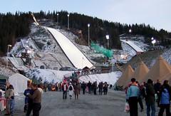 Vikersund ski flying arena entrance area