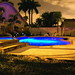 Backyard Pool Night Shot by MrClean1982