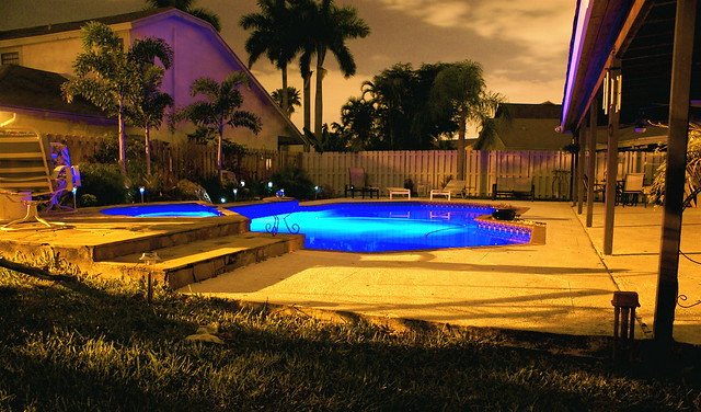 Backyard Pool At Night : Backyard Pool Night Shot  Flickr  Photo Sharing!