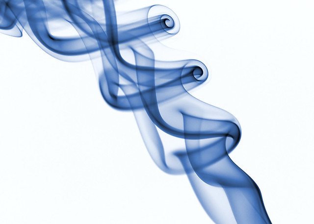 smoke in blue