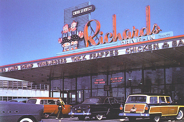 Richard's Drive-In, Cambridge, MA, 1957