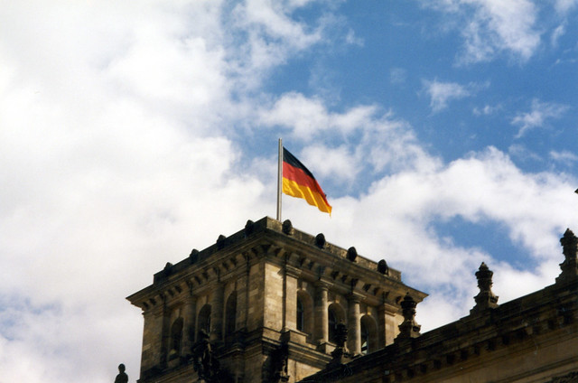 German Flag on the Reichstag