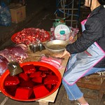 Gelatinated Blood Cubes - Luang Prabang, Laos