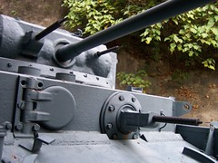 trigger(0.0), soldier(0.0), rifle(0.0), machine gun(0.0), firearm(0.0), weapon(1.0), gun turret(1.0), gun(1.0), gun barrel(1.0), cannon(1.0), military(1.0),
