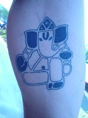 kanesh graphic tattoo (Dejavu Tattoo Studio Chiangmai Thailand)