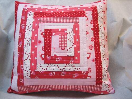 valentine patchwork pillow