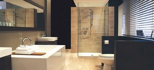 Art d co for Salle de bain couleur lin