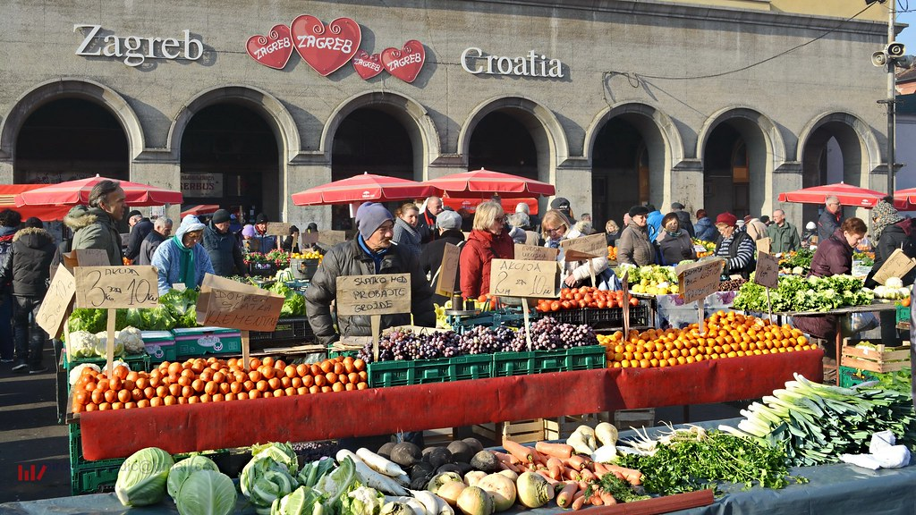 Zagreb - Dolac market