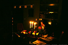 attempting to work by candlelight    MG 6927