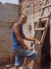 floor(0.0), construction worker(0.0), plaster(0.0), carpenter(0.0), wall(1.0), wood(1.0), bricklayer(1.0), stairs(1.0), brickwork(1.0),
