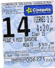 Miss. Sunshine Ticket