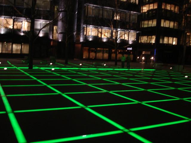 Grids on floor
