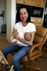 grandma neeta demonstrates her baby burrito soothing…