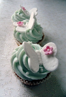 Butterfly mint cupcakes (from my signature collection)