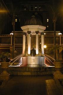 Broadway Fountain görüntü. plaza fountain night hotel san downtown sandiego grant diego horton fountains