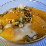 Vanillegrieß mit Orangen