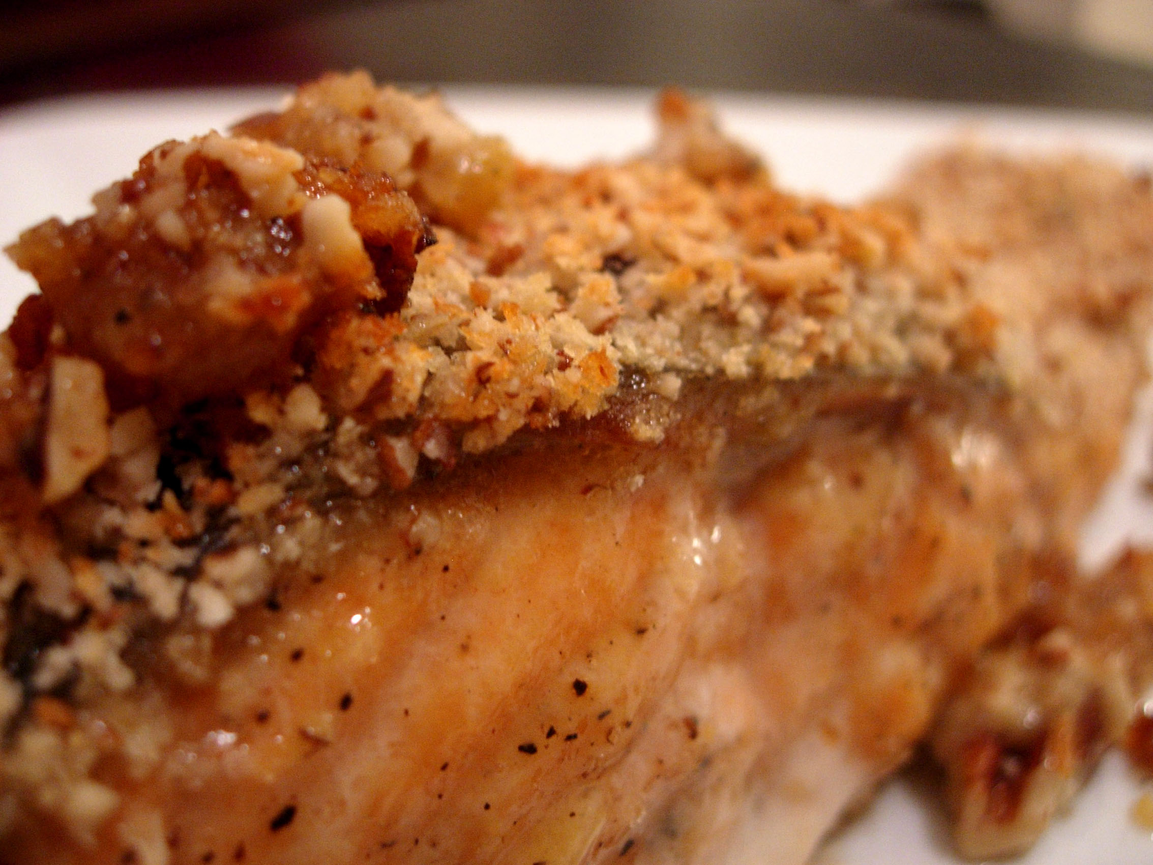 Salmon Bake with Pecan Crunch Coating | Flickr - Photo ...