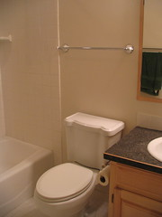 New tub toilet and vanity with sink