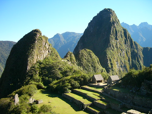 Early morning view of Huayna Picchu from Machu Picchu