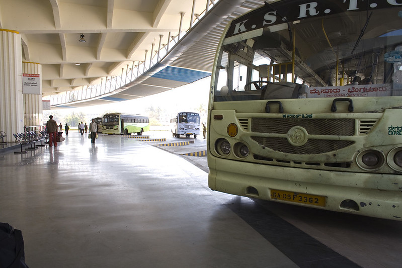 bangalore bus station and bus