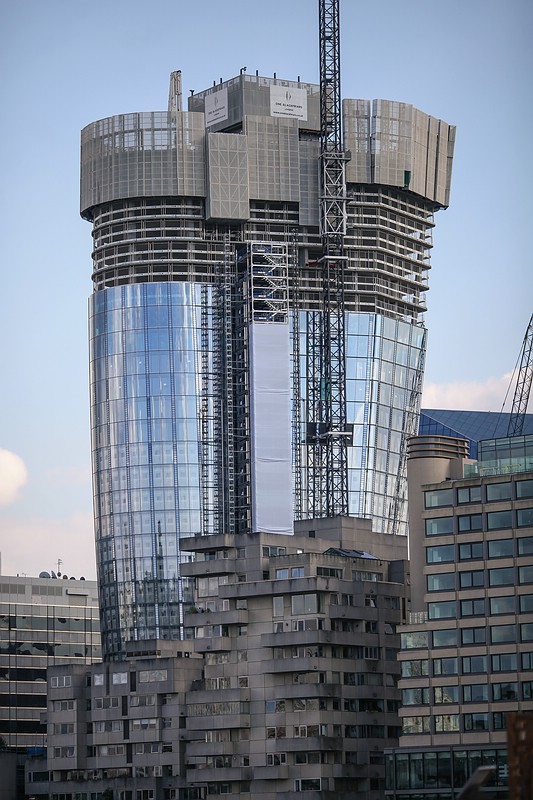One Blackfriars Skyscraper construction
