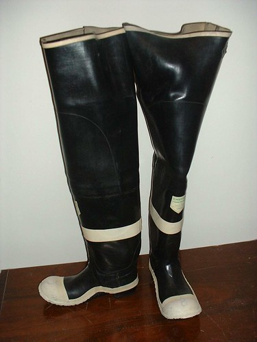 FIREFIGHTER HEAVY RUBBER HIP BOOTS