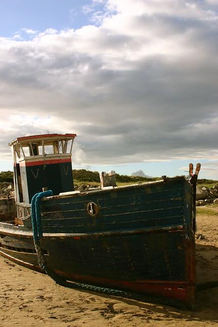 """Abandoned Boat: """"Nemo"""", Mochras Lagoon, Llandanwg"""