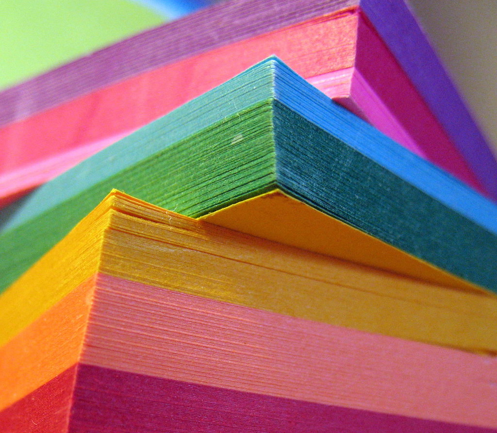 A Rainbow of Sticky notes