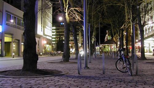 vaasa vasa Österbotten pohjanmaa ostrobothnia suomi finland december 2006 bike trees esplanade night