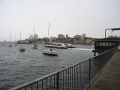 Arrival at Kurraba Warf; grizzly weather