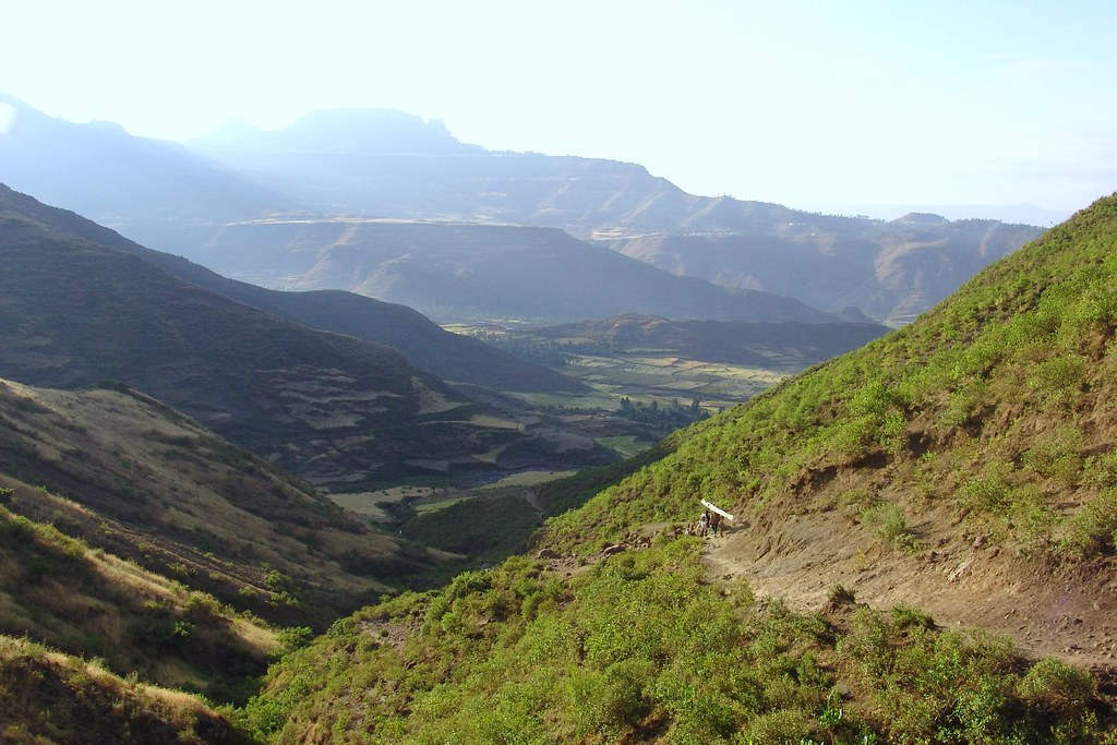 Looking back towards Lalibela
