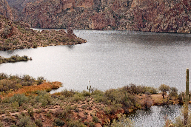 Saguaro Lake, as seen from the Butcher Jones Trail