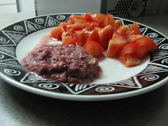meal, breakfast, steak tartare, food, dish, cuisine,