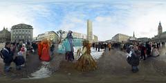 Venetian mask carnival panorama