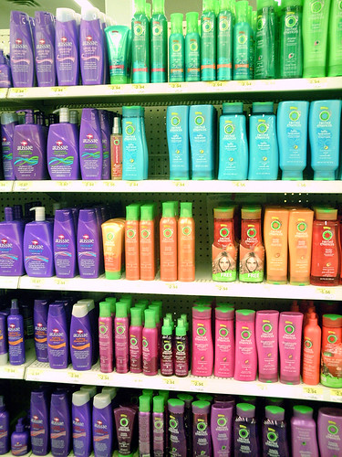 When searching the cosmetics aisle always select products that suit hair type and colour!