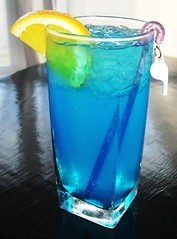 Blue Lagoon with Whistle Swizzle Stick