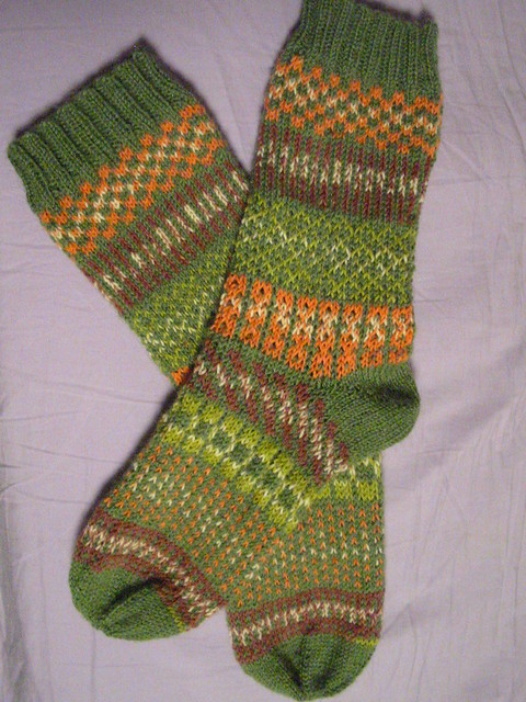 A finished fair isle, Canon POWERSHOT A200