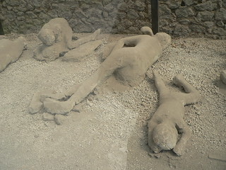 Pompeii plaster cast bodies by Simon & Vicki, on Flickr Creative Commons