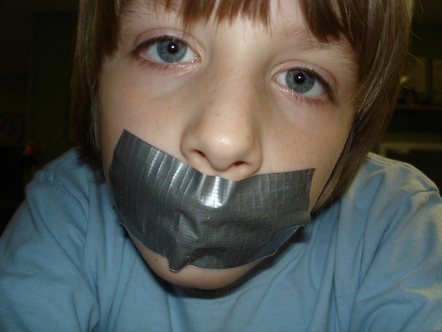 Tape on my mouth