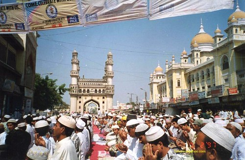 Charminar - Jumat-ul-Vida (Last Friday of Ramzan) Prayers at Makka Masjid Hyderabad