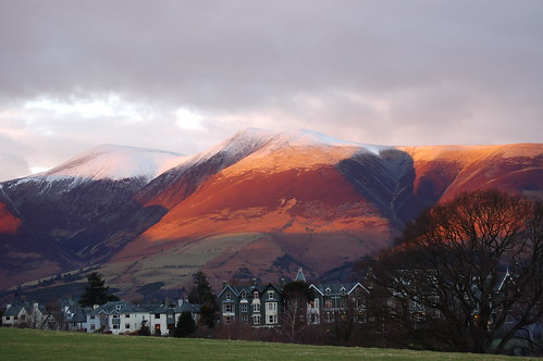 Winter Sunset in Keswick