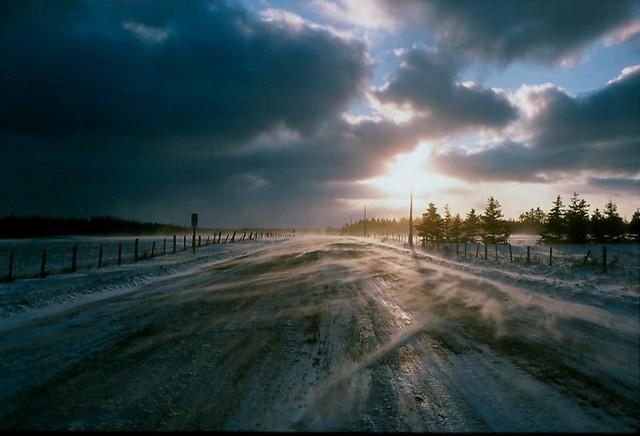 -20C morning on a rural road - Brrrrrrr!