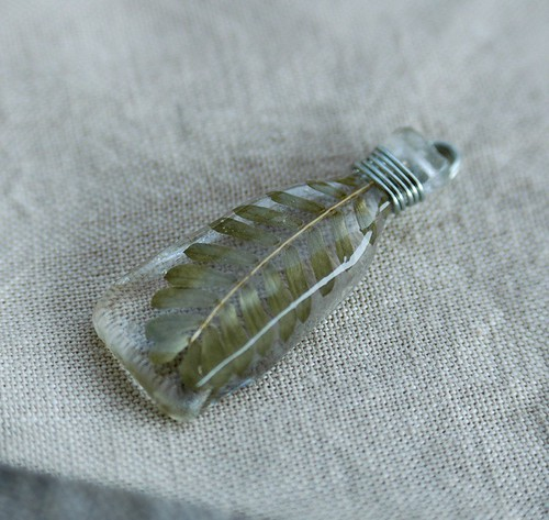 sprig resin pendant