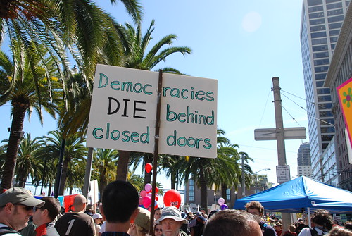 Democracies die behind closed doors