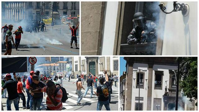 Protesta en Río, contra medida que prevé cortes de derechos fue fuertemente reprimido por la PM - Créditos: Divulgación