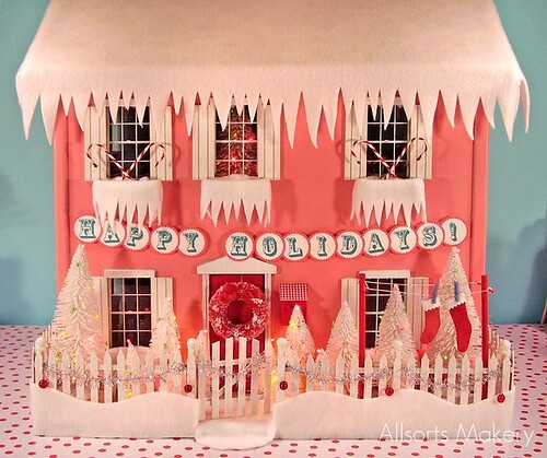 The dollhouse at Christmas