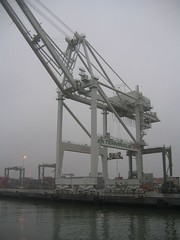 vehicle(0.0), freight transport(0.0), jackup rig(0.0), mast(0.0), construction equipment(0.0), transporter bridge(0.0), port(1.0), crane vessel (floating)(1.0), transport(1.0),