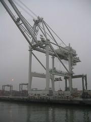port, crane vessel (floating), transport,