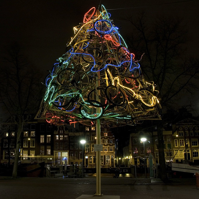 dutch christmas tree bicycles tree christmas tree flickr photo 4113